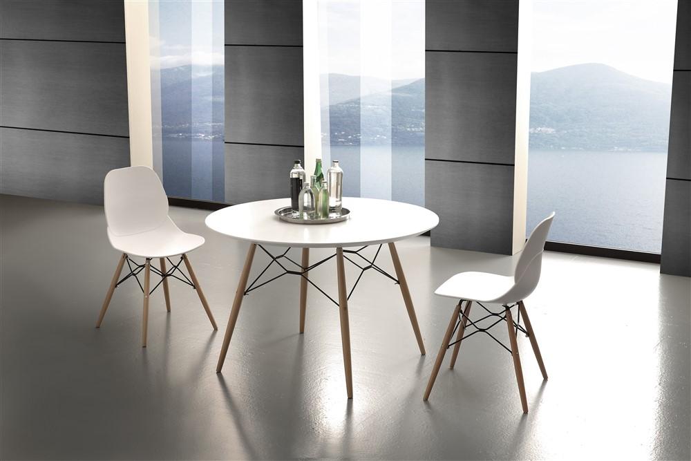 Tavolo da cucina rotondo in legno design soggiorno moderno for Tavoli rotondi da soggiorno