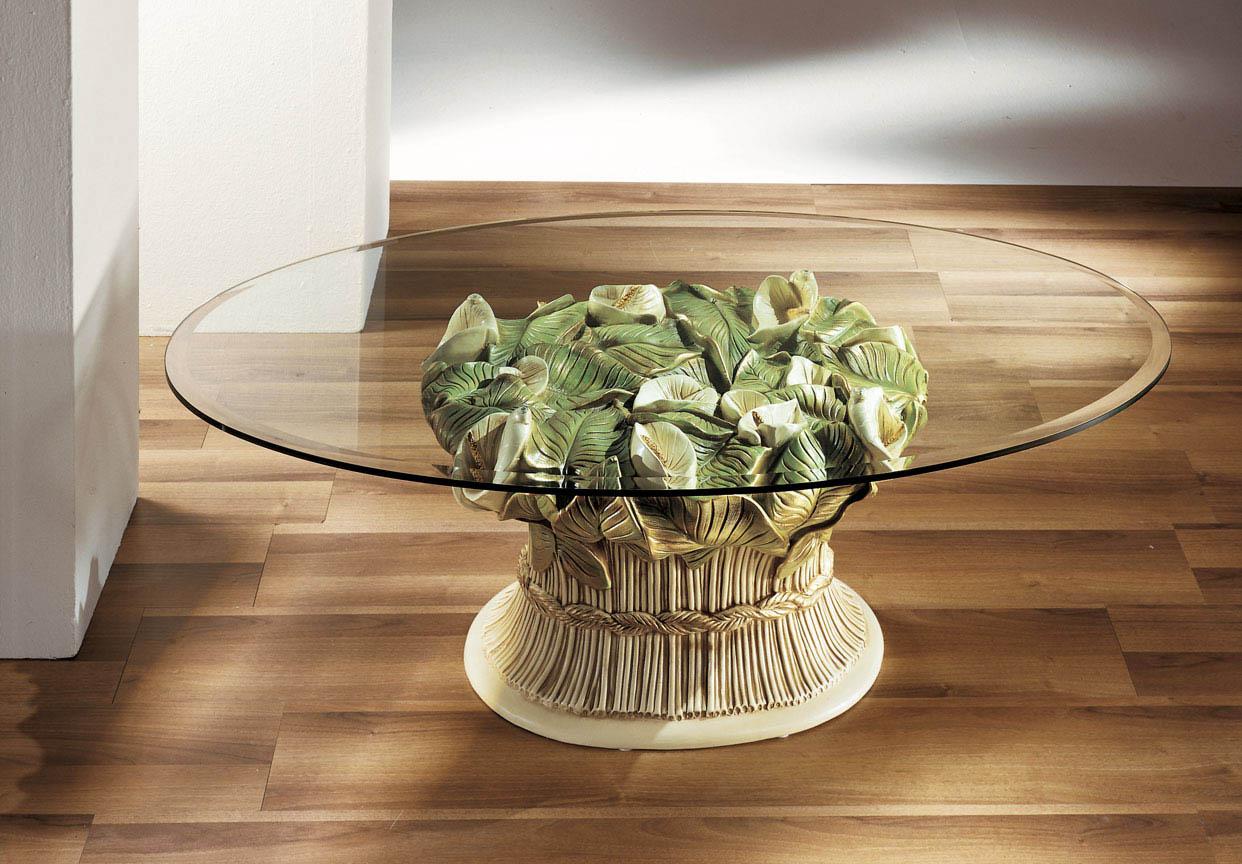 Tavolino tavolo vetro ceramica cristallo design salotto - Oggetti ceramica design ...