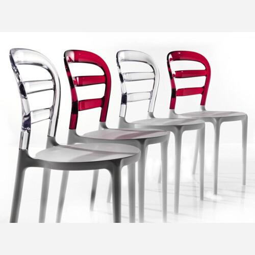 Set 4 sedie in polipropilene bianco