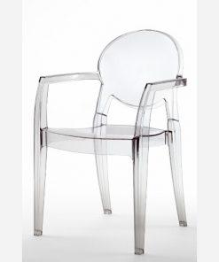 Set 4 sedie trasparenti impilabili