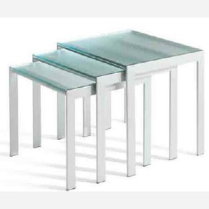 3 tavolini da salotto in vetro – MA874
