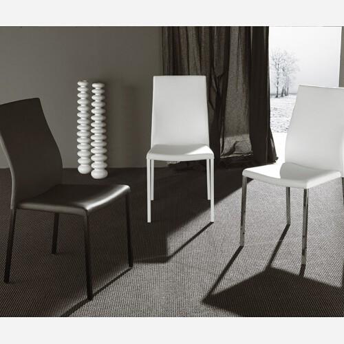 Set 4 sedie in metallo e ecopelle