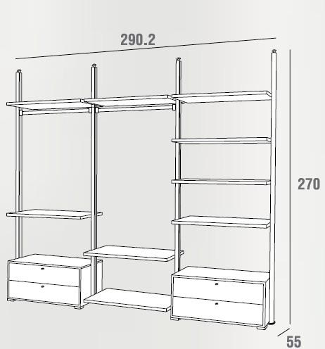 422dim - Cassettiera per cabina armadio ...