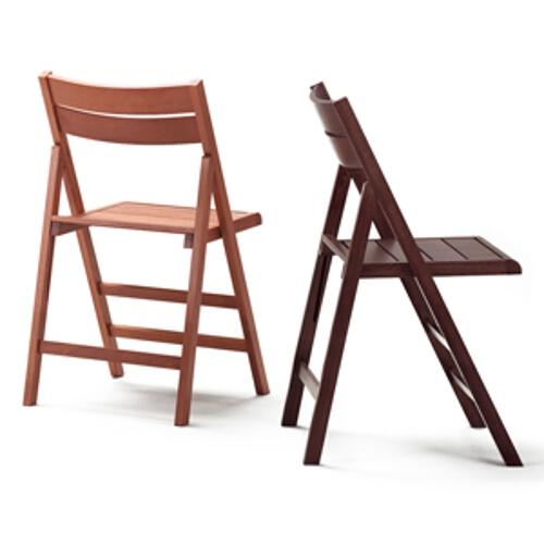 Set 4 sedie pieghevoli in faggio