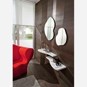 Ingresso moderno con specchio e mensole – PR535