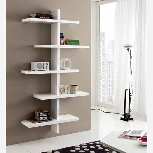 Libreria moderna a parete pr545 emporio3 for Parete decorata moderna