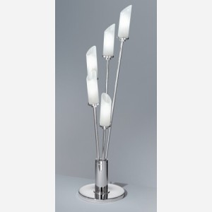 Lampada da tavolo realizzata in vetro satinato