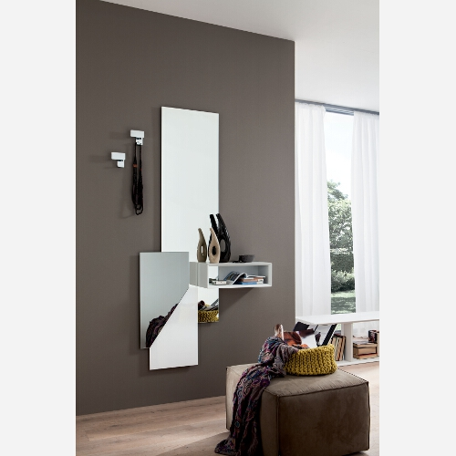 Ingresso con specchiera mensole e appendiabiti pr600 - Ingresso con specchio ...
