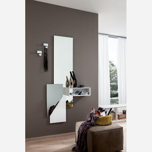 Ingresso moderno con appendino e specchio pr600 emporio3 for Design moderno