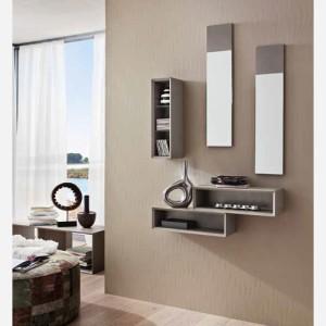 Ingresso moderno con specchio e mensole – PR603