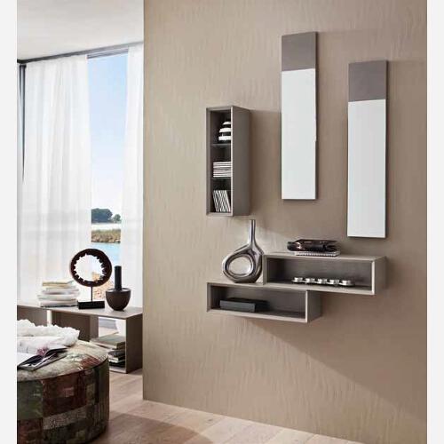 Ingresso con specchiera e mensole pr603 for Ingresso casa moderno