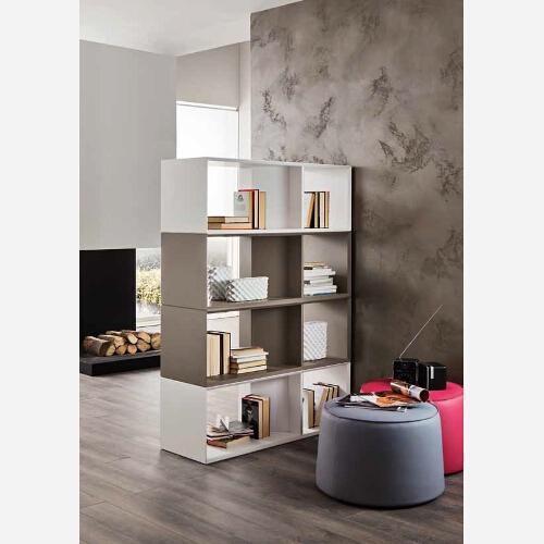 Libreria moderna bifacciale centro stanza - Emporio3 Arredamento