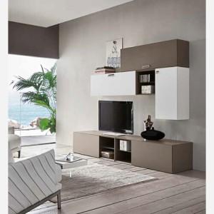 Mobile da salotto porta televisore con mensole libreria - Emporio3