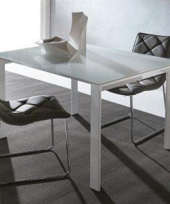 tavolo allungabile cristallo bianco