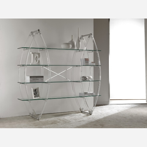 Libreria in cristallo trasparente - SG119