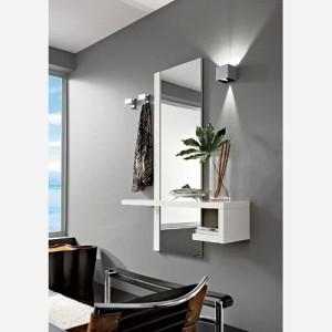 Ingresso moderno con specchio e mensole – PR660