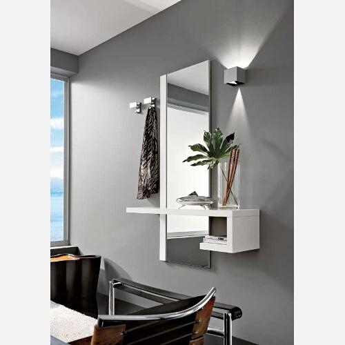 Ingresso moderno con specchio e mensole PR660 - Emporio3