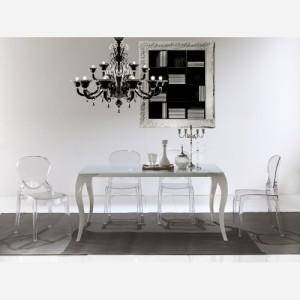 Tavolo da cucina allungabile in vetro Paris – SG287