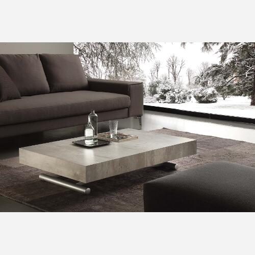 tavolino trasformabile cemento