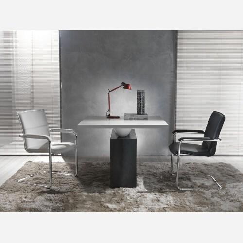 Set 2 sedie in metallo e ecopelle