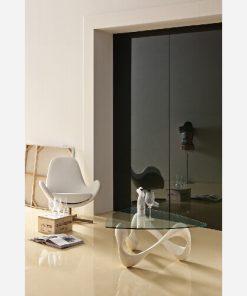 Tavolino Fossilstone Mactan Stone/Vetro