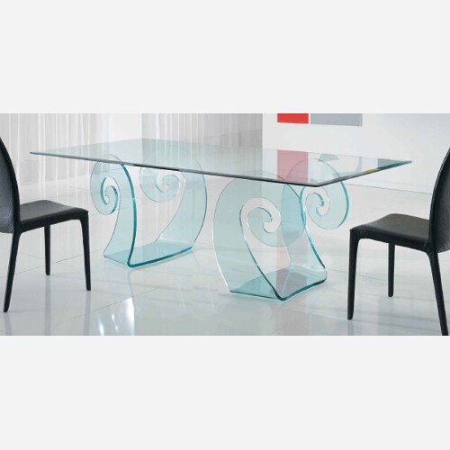 Tavolo di cristallo 100% Made in Italy