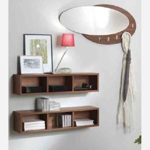 Ingresso moderno con libreria e specchio – MA843