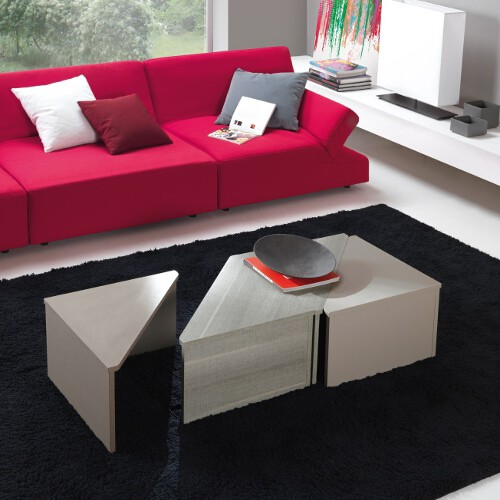 Set 4 tavolini da salotto modulari