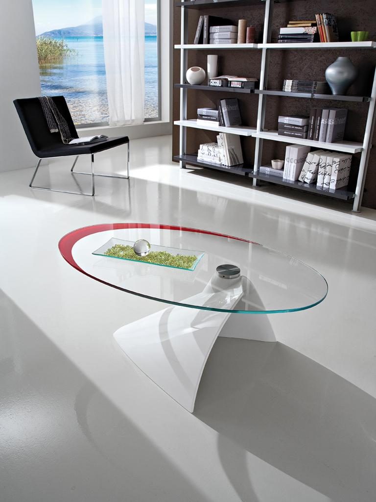 Tavolino da salotto in vetro - PRPAMELA