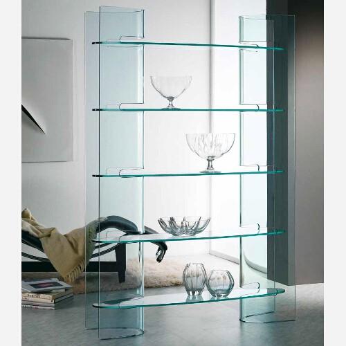 Libreria in cristallo - SLALOM
