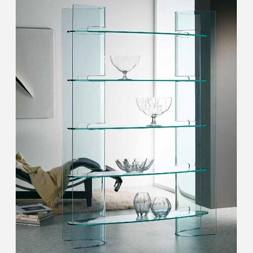 Libreria moderna in vetro slalom emporio3 arredamenti - Mobiletti in vetro ...