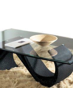 tavolino da salotto in vetro mara nero