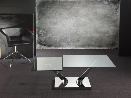 tavolino trasformabile in vetro braf