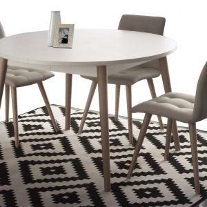 tavolo allungabile rotondo in legno miletto