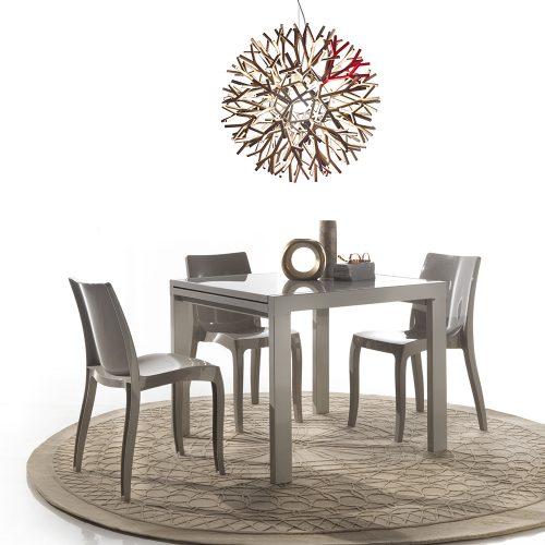 tavolo allungabile space tortora