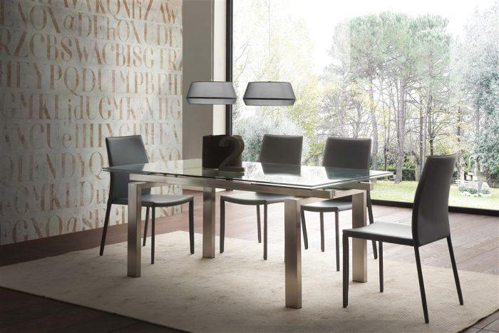 tavolo da cucina allungabile in vetro new york