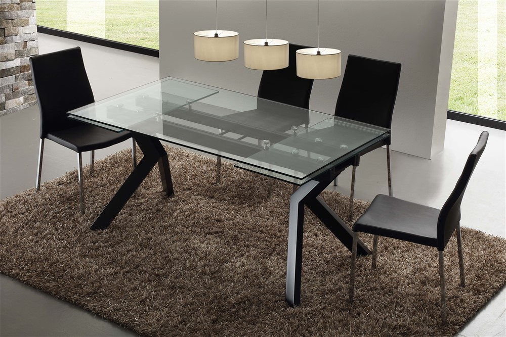 Tavolo allungabile in vetro Tricorno - SG710 - Emporio3 arredamenti