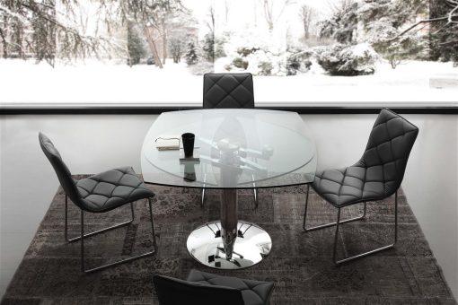 tavolo da cucina ovale allungabile in vetro ellisse chiuso