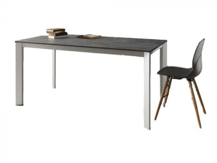tavolo da pranzo allungabile in cemento