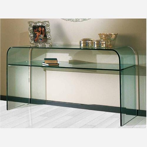 Consolle in cristallo vanessa for Consolle ingresso vetro