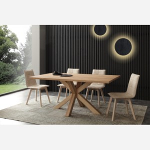 Tavolo fisso in legno massello Cartesio – SG1524