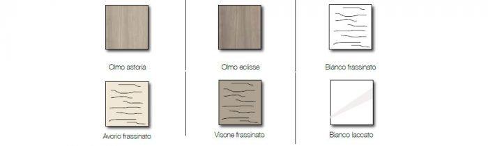 colori letto moderno legno