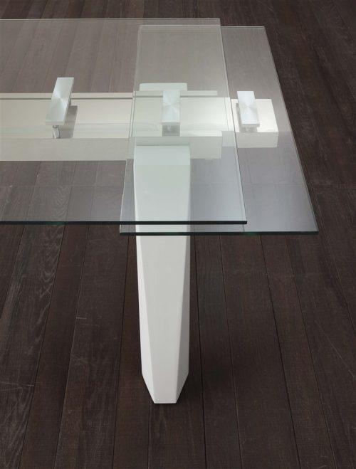 tavolo allungabile cervino bianco dettaglio