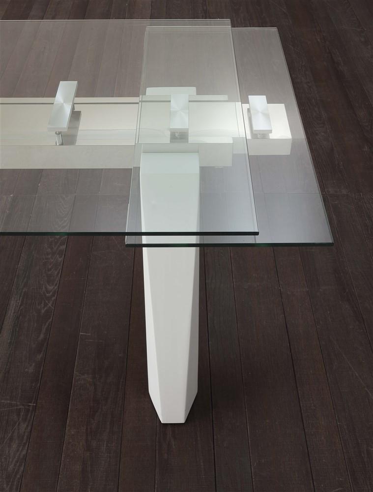 Tavolo allungabile cervino bianco dettaglio - Tavolo da cucina in vetro ...