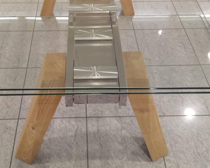 tavolo allungabile cervino naturale dettaglio gambe