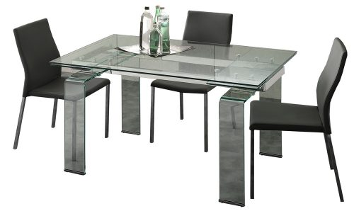 tavolo allungabile in vetro dolomiti