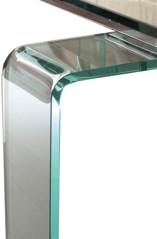 tavolo allungabile in vetro dolomiti gamba