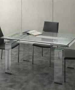 tavolo allungabile in vetro mini glass