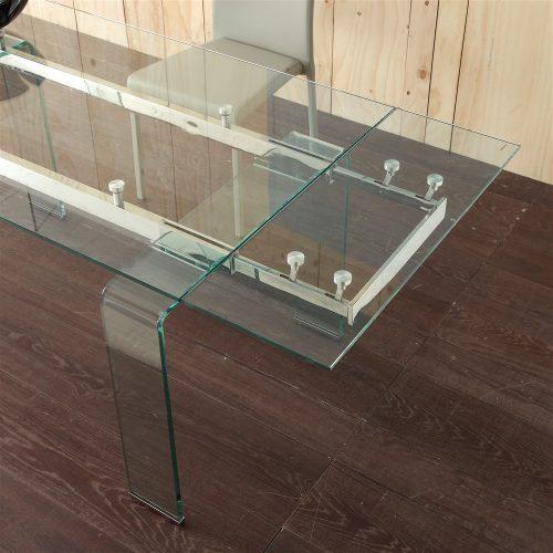 tavolo allungabile in vetro mini glass 3