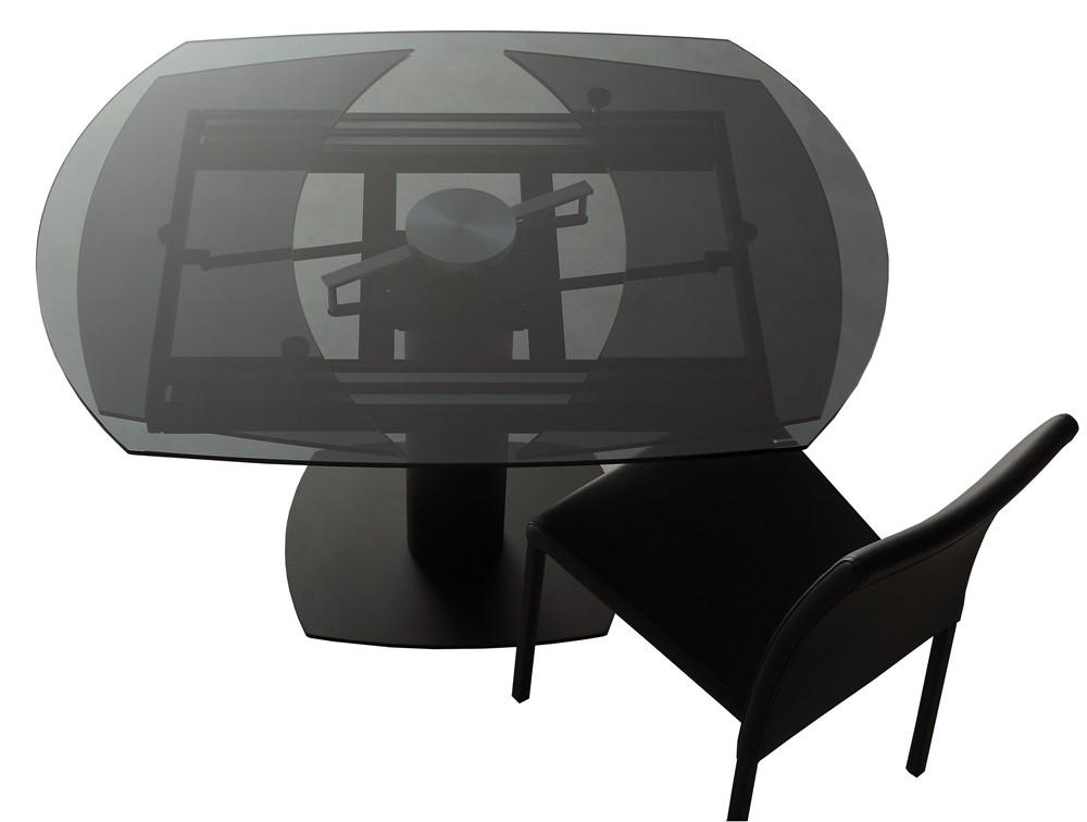 Tavolo allungabile in vetro tofane nero - Tavolo in vetro nero ...